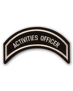Heritage Tan Activities Officer Patch