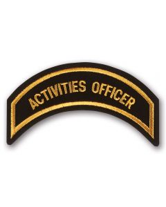 Gold Activities Officer Patch