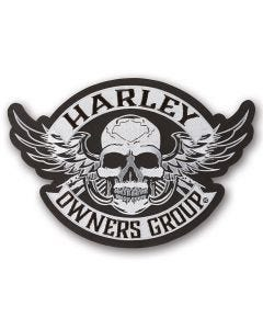 Large Winged Skull Patch