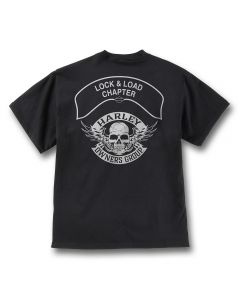 Black with Gray Winged Skull Chapter T-Shirt