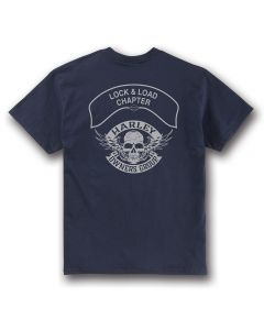 Navy with Gray Winged Skull Chapter T-Shirt