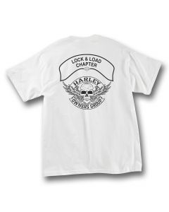 White with Black Winged Skull Chapter T-Shirt