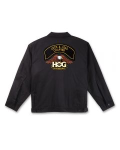 Black Twill Jacket with H.O.G. Logo and Chapter Name Patch