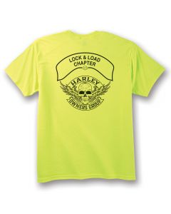 Safety Green Short Sleeve Winged Skull Chapter Specific T-shirt