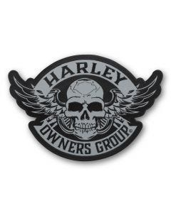 Large Reflective Skull Patch