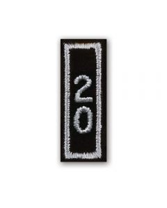 2020 Silver Year Bar Patch