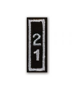 2021 Silver Year Bar Patch