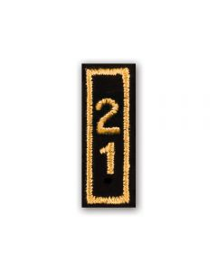 2021 Gold Year Bar Patch