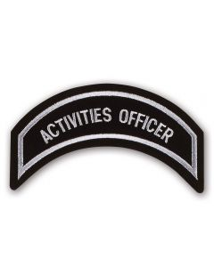 Silver Activities Officer Patch